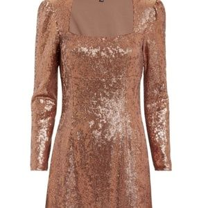 Rosegold Intermix sequin dress